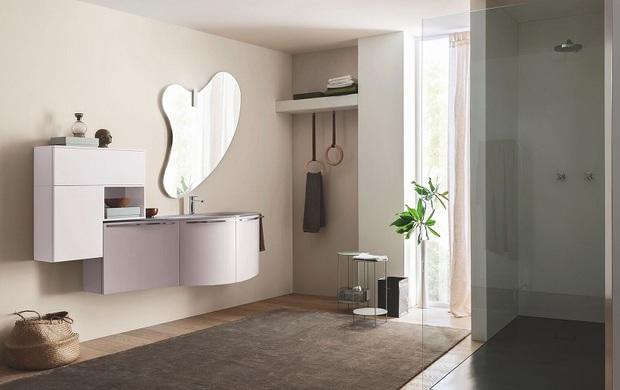 Una raffinata sala da bagno, in rosa pastello - IlbagnoNews