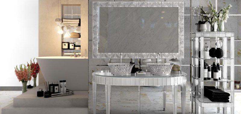 Un bagno scintillante con Cristallo di Bianchini & Capponi