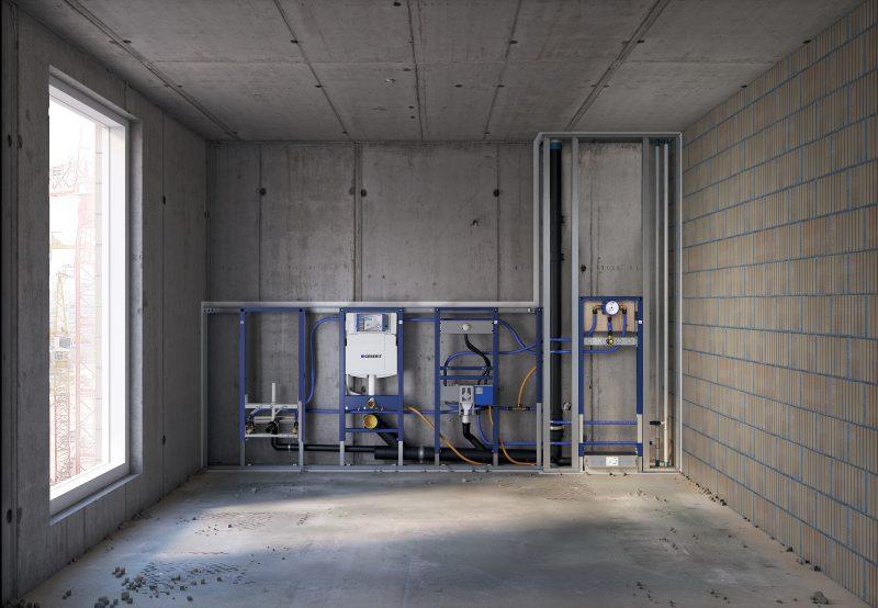 Duofix: il know-how Geberit al servizio delle costruzioni a secco