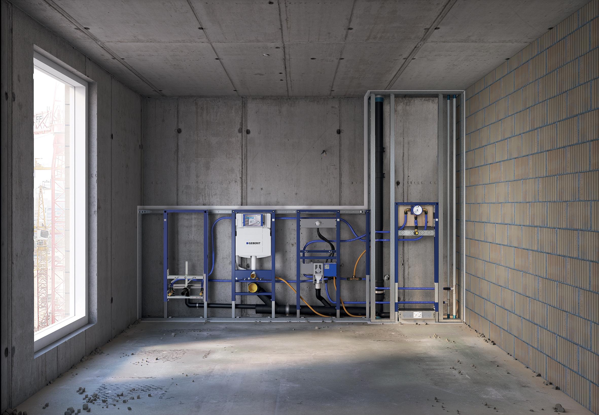 Isolamento Acustico Scarichi Bagno la gamma duofix geberit ideale per le costruzioni a secco