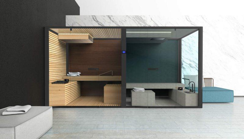 ChillOut, la sauna hammam di Glass 1989 by Meneghello Paolelli Associati