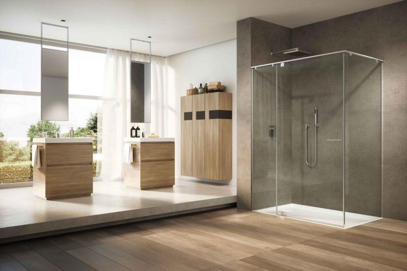 Iunix, la cabina doccia con profili in acciaio di Provex a ISH (Hall 3.0 stand D79)
