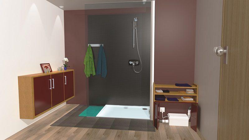 Con Sanifloor Plus+ fai la doccia… dove vuoi