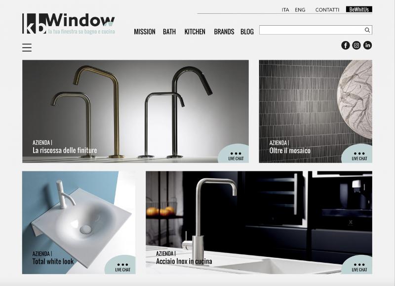 Kbwindow, la nuova piattaforma digitale dedicata al mondo bagno e cucina