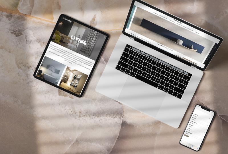 Elegante, minimalista, user-friendly: il nuovo sito di Cordivari