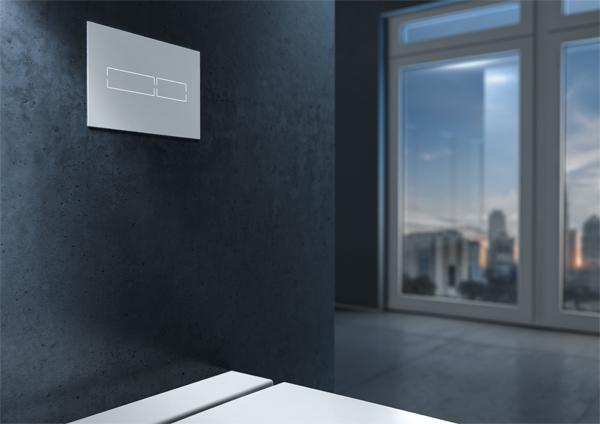 TECElux Mini, placca di azionamento wc elettronica per la cassetta