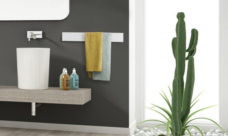 Lo scaldasalviette elettrico Towel Bar di Ridea a ISH (Hall 12.1 stand E68)