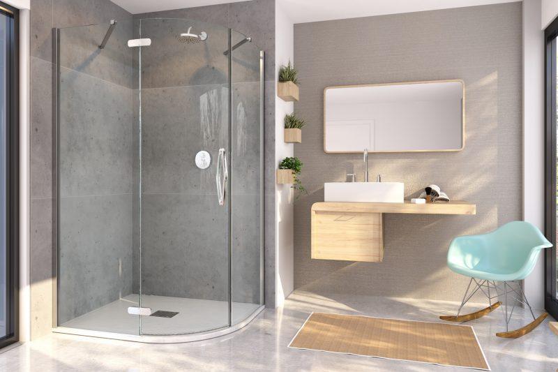 ETO, il box doccia semicircolare e asimmetrico di Flair