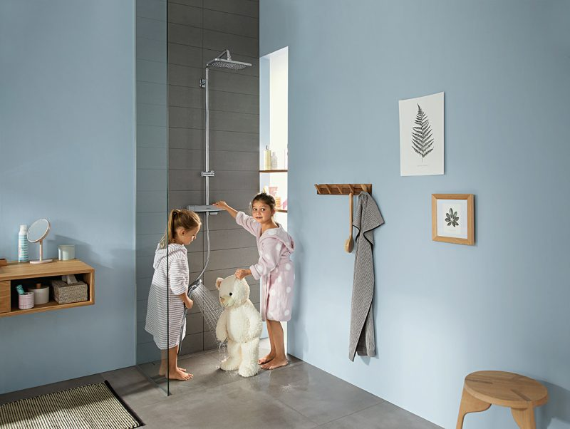 Con Croma E di hansgrohe la doccia è un piacere sicuro