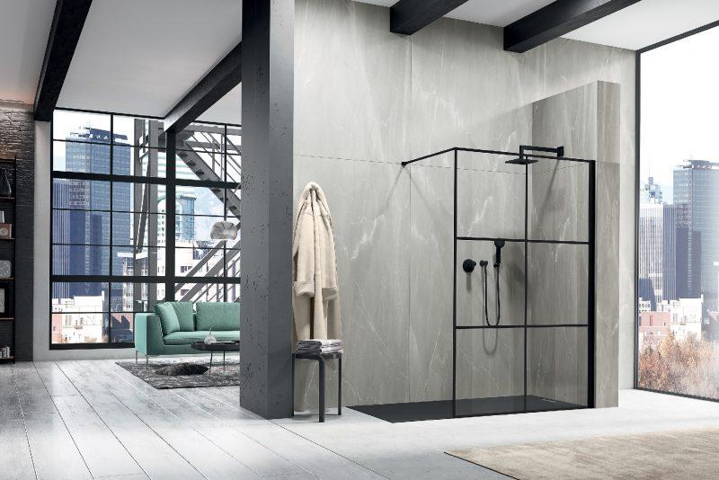 Le cabine doccia duka si 'vestono' di nero