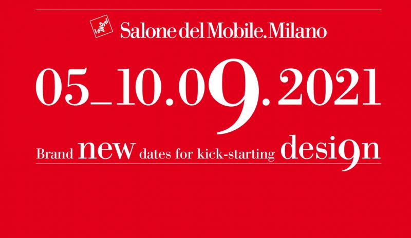 Confermate le date del Salone del Mobile.Milano 2021