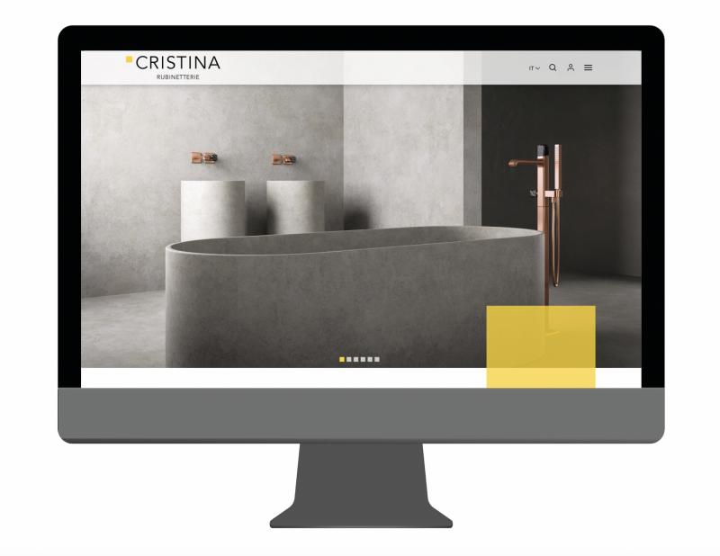 Scenografico, ricco, accattivante: il nuovo sito di Cristina Rubinetterie